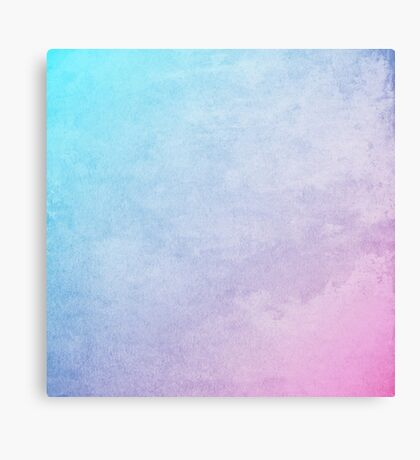 abstract blue and pink painting Canvas Print