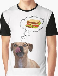 Pitbull dreaming of sandwiches Graphic T-Shirt