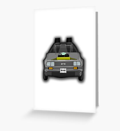 Regreso al Futuro Delorean Greeting Card