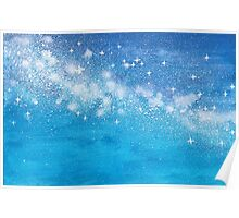 Starry Postcard ~ Watercolor Painting Poster