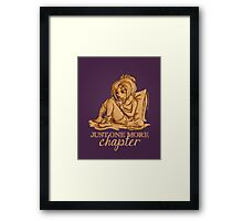 Just one more chapter... Framed Print