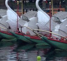 Boston Public Gardens Swan Boats  Sticker