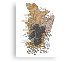If You See Something Say Nothing Angels Welcome to Night Vale Quote Canvas Print