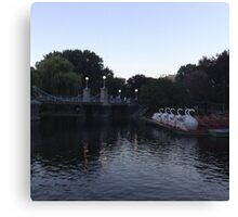 Boston Public Gardens In Early Evening Canvas Print