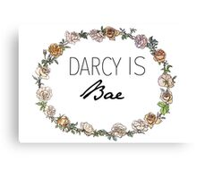 Darcy Is Bae Canvas Print