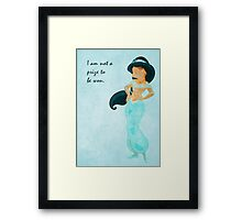 Jasmine inspired designed. Framed Print