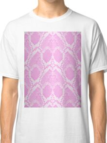 Pale Pink and White Python Snake Skin Reptile Scales Classic T-Shirt