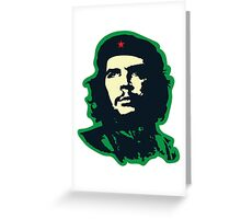 Che - Green Greeting Card