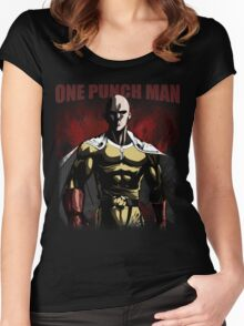 Caped Baldy Saitama Women's Fitted Scoop T-Shirt