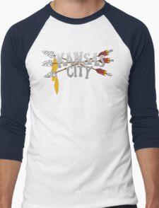 Kansas City Arrow [RED] Men's Baseball ¾ T-Shirt