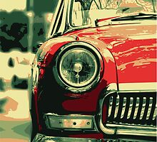 Red Headlight by mongoliandevil