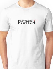 Lowtech analogue recordings black Unisex T-Shirt