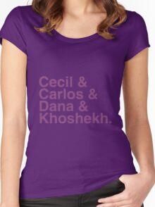 Cecil & Carlos & Dana & Khoshekh WTNV Slogan Helvetica Women's Fitted Scoop T-Shirt