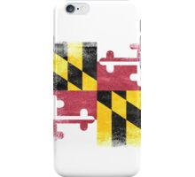 Maryland State Flag Distressed Vintage  iPhone Case/Skin