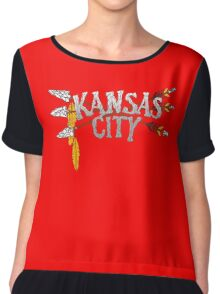 Kansas City Arrow [RED] Chiffon Top
