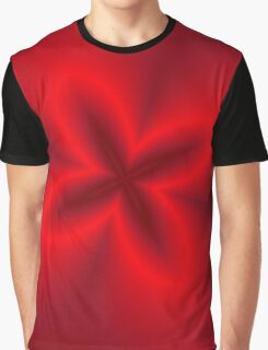Neon Red Flower Graphic T-Shirt