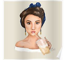 Selena with Ice Coffee Poster