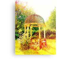 Old Fashioned Gazebo- Unique Photography  Metal Print