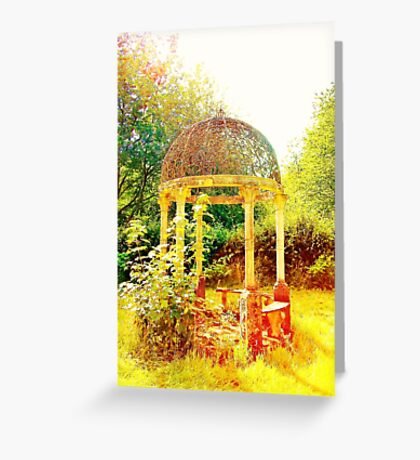 Old Fashioned Gazebo- Unique Photography  Greeting Card