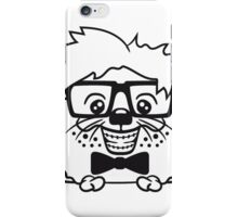 anzug fliege grinsen spange nerd geek schlau dumm intelligent freak lustig frech teenager hornbrille igel comic cartoon  iPhone Case/Skin