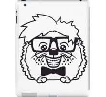 anzug fliege grinsen spange nerd geek schlau dumm intelligent freak lustig frech teenager hornbrille igel comic cartoon  iPad Case/Skin