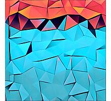 Polygonal,multicolor,abstract art,contemporary Photographic Print