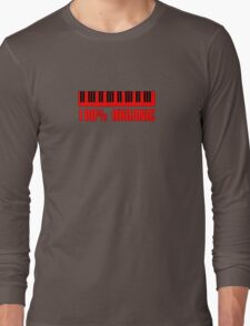 100 organic red Long Sleeve T-Shirt