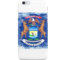 Michigan State Flag Distressed Vintage  iPhone Case/Skin