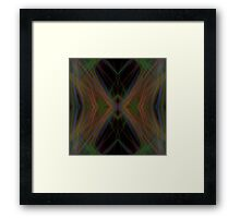 Fractal Abstract Psychedelic Black Energy Waves Framed Print