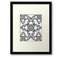 Sophisticated Swirls Framed Print