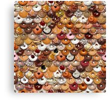 Fish Scale Doughnut Designs Canvas Print