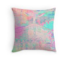 Totem Log Cabin Abstract - Pastel Throw Pillow