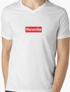 Supreme x Harambe Mens V-Neck T-Shirt