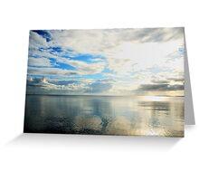 Dreaming of a summer morning at the sea Greeting Card