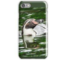 Penguin in emerald water iPhone Case/Skin
