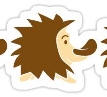 3 süße kleine niedliche igel wandern team freunde muster design  Sticker