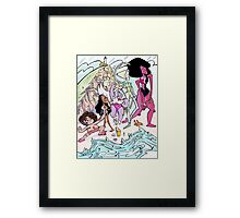 Universe Beach Day Framed Print