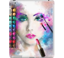 Woman face. fashion illustration. make up,abstract iPad Case/Skin