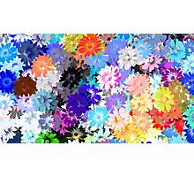 colorful flower design Photographic Print