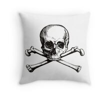 Skull & Crossbones | Black & White Throw Pillow