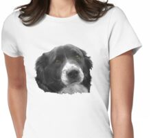 Border Collie and the Equal Time Message Womens Fitted T-Shirt
