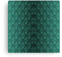 Tiffany Aqua and Black Python Snake Skin Reptile Scales Canvas Print