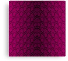 Hot Neon Pink and Black Python Snake Skin Reptile Scales Canvas Print