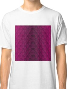 Hot Neon Pink and Black Python Snake Skin Reptile Scales Classic T-Shirt
