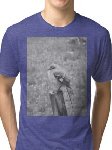 The Bird Black and White Tri-blend T-Shirt