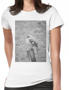 The Bird Black and White Womens Fitted T-Shirt
