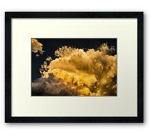 Golden Thunderhead Framed Print