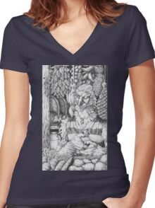 The Merchant Women's Fitted V-Neck T-Shirt