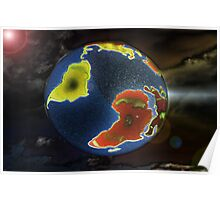 the world on your shirt Poster