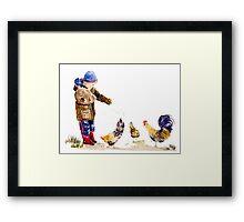 Chicken Feed Framed Print